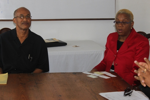 Business owner Oswald Smith and President Dr Derby