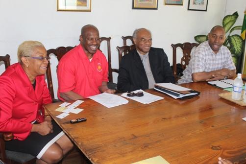 Trade delegation with Dr Derby enjoying a joke