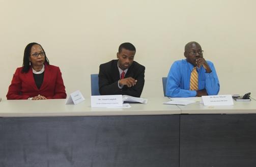 Dr Rosalea Hamilton, Mr Mathew Bryan and Mr Hector Wheeler