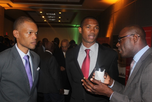 MP Mr Raymond Pryce with , Arnaldo Brown, Junior Foreign Affairs Minister and Mr Beris Grey Senior Vice President OC & M, Scotia Investments