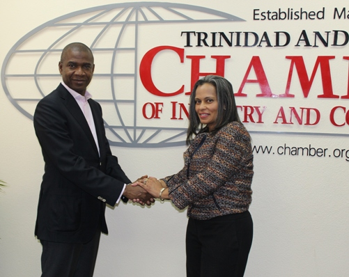 Group Managing Director Bola Akindele with Trade and Business Development Manager, Camille Sears-Carter Wells