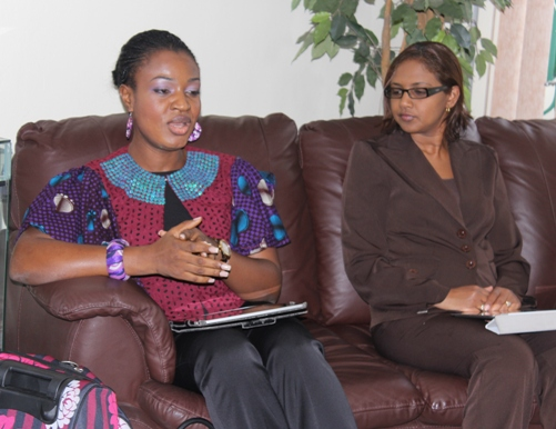 Compass Consulting CEO Tokunbo Olamiju Ajilore- Chiedu and Ms Renata Girod, Senior Sector Officer for InvesTT