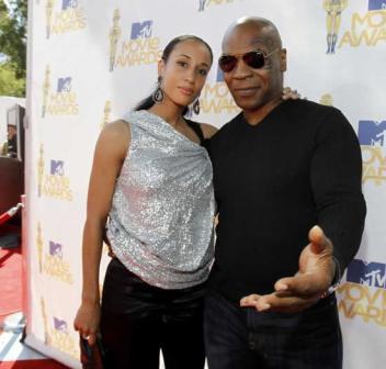 Mike Tyson and Lakiha-Spicer at MTV-Movie Awards 2010.