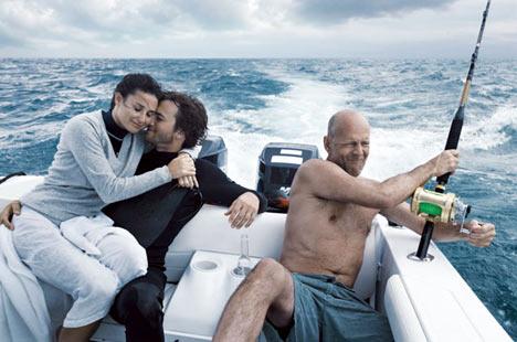 Bruce Willis, Demi Moore and Ashton Kutcher