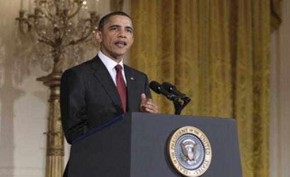 Obama standing firm. Photo courtesy www.npr.org