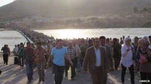 Syria exodus of refugees. Photo courtesy legalinsurrection.com