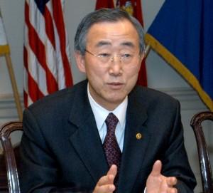 UN Secretary General, A Ban Ki Moon. Photo courtesy www.iinanews.com