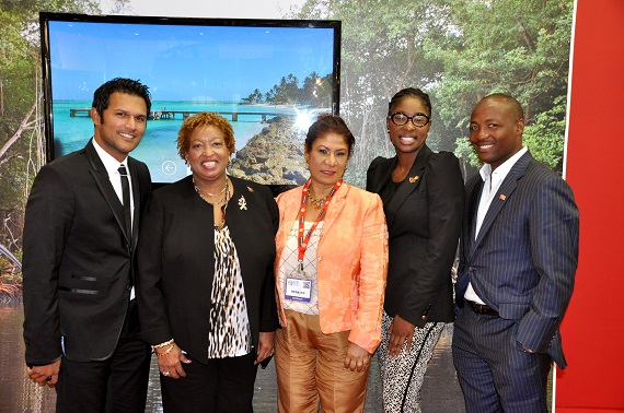 (l-r) Mr. Darren Ganga, Mrs. Carol Anne Birchwood-James, Permanent Secretary, Ministry of Tourism Mrs. Juliana Johan-Boodram, Ms. Achi-Kemba Phillips, Tourism Attaché and Mr. Brian Lara