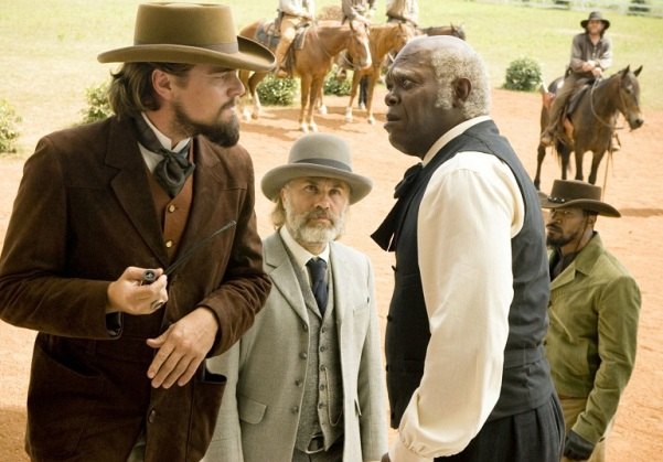 Samuel L. Jackson plays the part of the head house keeper in Django: Unchained. Photo courtesy www.flicksandbits.com