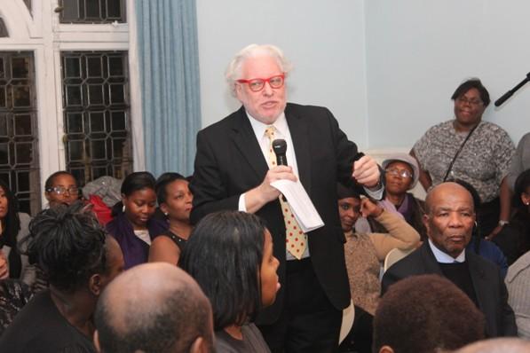 Simon Albury offering to facilitate change at the CaribDirect Invisibility Seminar.