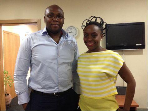 Jason Njoku and Lady Chimimanda Ngozi Adichie