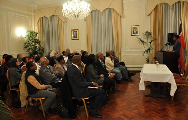Ms. Gutzmore's presentation to members of the Diaspora