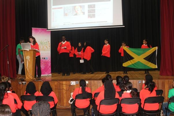 Miss Teen Caribbean UK cultural showcase school tour in London