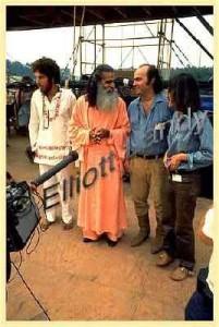 Swami Satchidananda at Woodstock. Photo courtesy www.pinterest.com