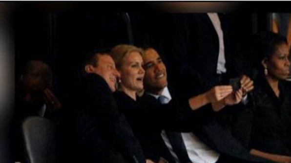 We've had the most powerful man in the world, Barak Obama taking selfies with other world leaders.Photo courtesy www.myfoxboston.com