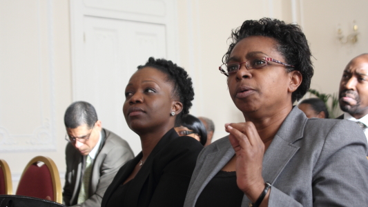 (Extreme right) Minister Counsellor for St Vincent and the Grenadines, Mrs. Doris D. Charles