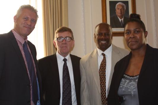 Mark Shields, George Moffatt, Denis St Bernard and Carol Grosling Senior Business Manager at The Royal Bank of Scotland (RBS)