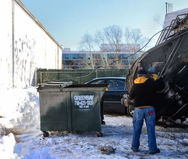 Dumpster where body was found. Photo courtesy Norbert Williams