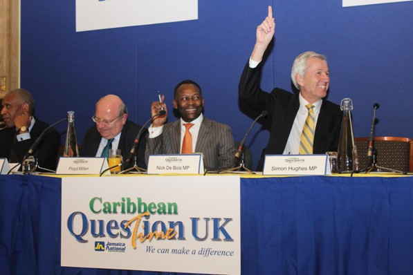 Distinguished panel at Caribbean Question Time 2013. Photo courtesy CaribDirect