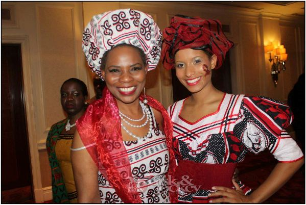 Andella with Justina Mutale at a POSITIVE RUNWAY Event to raise awareness of HIV/AIDS in London