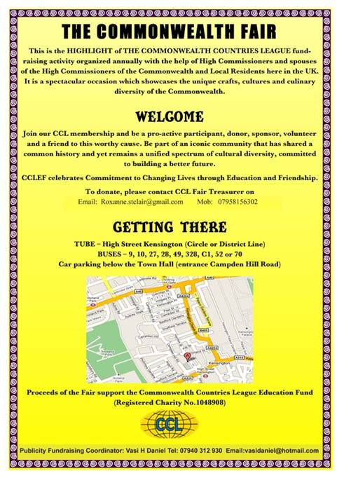 Commonwealth Fair Directions