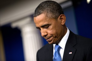 A sad Barack Obama. Photo courtesy www.nytimes.com