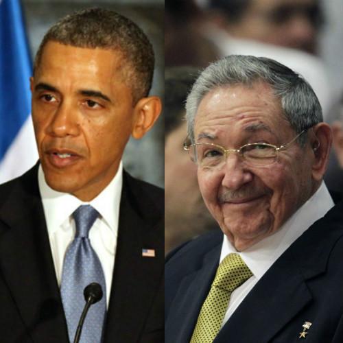 Barrack Obama and Raul Castro. Photo courtesy www.dnaindia.com