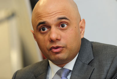 Photo courtesy www.thirdsector.co.uk Sajid Javid - Secretary of State for Culture, Media and Sport (to be confirmed)