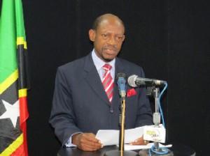 PM Dr Denzil Douglas addressing nation. Photo courtesy Photos by Erasmus Williams