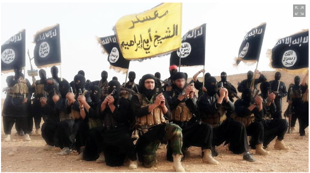 ISIS on parade. Photo courtesy pamelageller.com