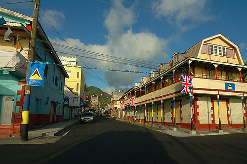 Soufriere Main Street. Photo courtesy www.flickr.com