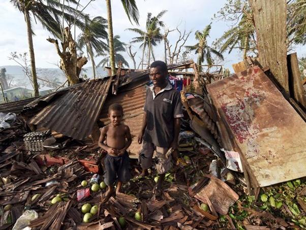Vanuatu following Cyclone Pam. Photo courtesy 350.org
