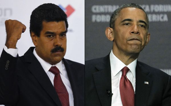 Presidents Maduro of Venezuela and Obama of the USA. Photo courtesy analitica.com