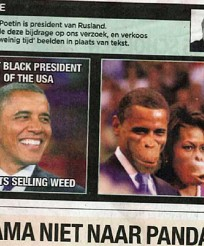 Belgian Newspaper in trouble for portraying Obama as an Ape