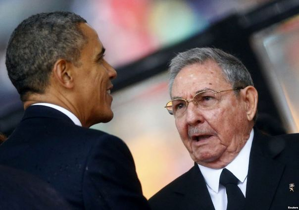 Presidents Obama and Castro. Photo courtesy www.thestar.com