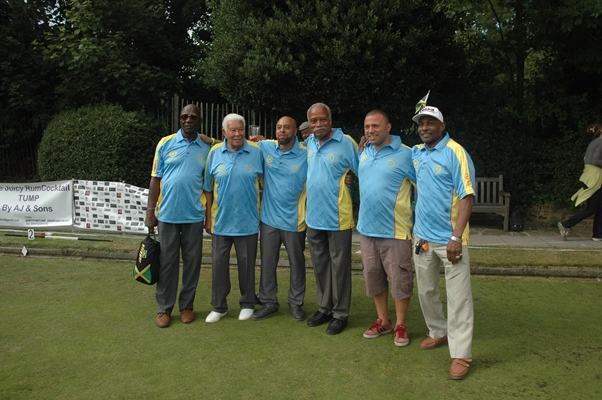 From left to right Walter Williams (runner up) Louie Holness, Andrew Newell (winner), Mervyn Edwards, Martin Edwards (son) Tony Simmonds