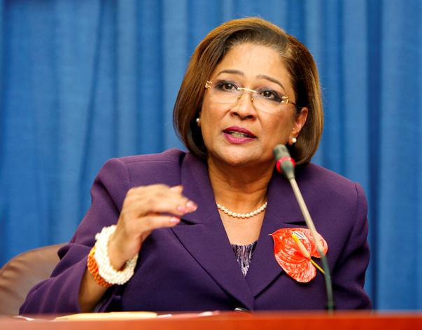 Trinidad and Tobago's Prime Minister Kamla Persad-Bissessar addresses a news conference regarding what she called an assassination plot against her, in Port of Spain November 24, 2011. Persad-Bissessar said Thursday the country's law enforcement officials foiled a plot involving army soldiers and police officers to assassinate her and other government officials.   REUTERS/Andrea De Silva (TRINIDAD AND TOBAGO -