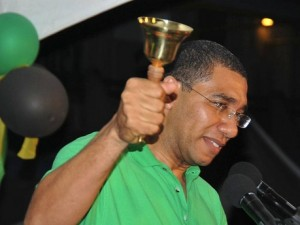 New Prime Minister Andrew Holness. Photo courtesy http://www.jamrockone.com/