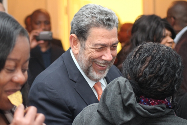 Prime Minister Dr Gonsalves arrives. Photo courtesy David F. Roberts / CaribDirect