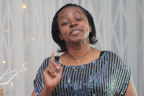 Host Doris D. Charles. Photo courtesy David F. Roberts / CaribDirect