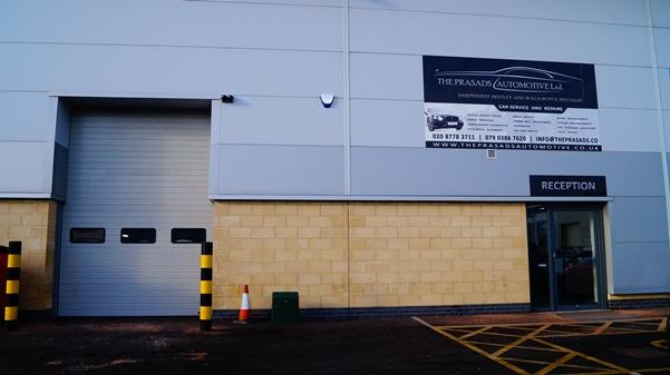 Shop entrance at Unit A3 | Bell Green Trade City | Sydenham | London | SE 26 4PR