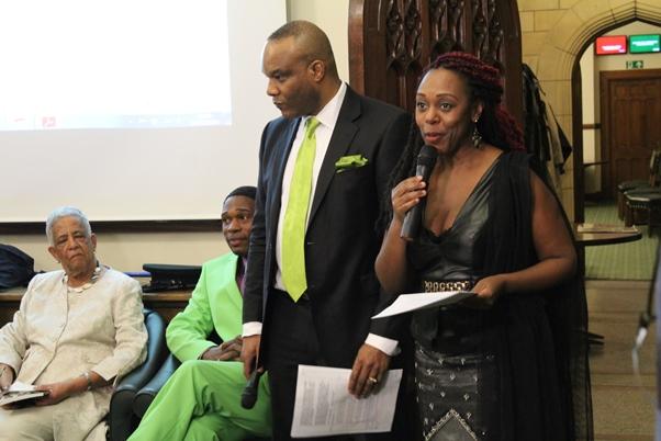Hosts Jay Mastin and Nairobi Thompson. Photo courtesy CaribDirect