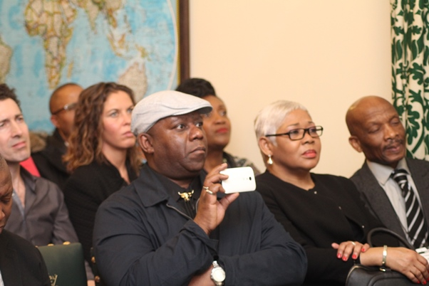 Distinguished guests including Minister Counselor for Antigua and Barbuda Althea Vanderpoole-Banahene, second from right. Photo courtesy CaribDirect