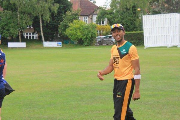 Fallen cricketer Adrian St John. Photo courtesy Chris Gayle