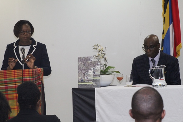 High Commissioner Karen-Mae C. Hill giving welcome address to the audience. Photo courtesy CaribDirect