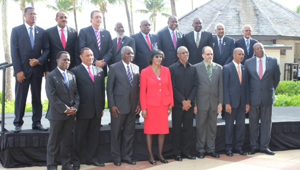CARICOM Leaders at the 36th Heads of Government Meeting now underway in Bridgetown, Barbados. Photo courtesy www.telesurtv.net