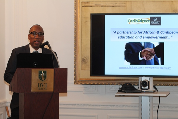 CEO and Founder CaribDirect Multi-Media David F. Roberts addressing audience. Photo courtesy CaribDirect