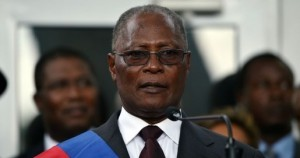Newly elected Haitian Provisional President Jocelerme Privert speaks at the installation ceremony in the National Palace in Port-au-Prince on February 14, 2016. Haitian lawmakers early Sunday elected Jocelerme Privert as the troubled country's interim president to fill a power vacuum following the departure of Michel Martelly, after a vote to choose his successor was postponed over fears of violence. Privert, 62, a senator and president of the National Assembly, was chosen on the second round of balloting after a lengthy session that stretched overnight Saturday to Sunday. Photo credit should read HECTOR RETAMAL/AFP/Getty Images)
