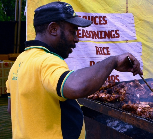 Jamaica Jerk stall at Caribbean Food & Drink Expo 2015. Photo courtesy CaribDirect