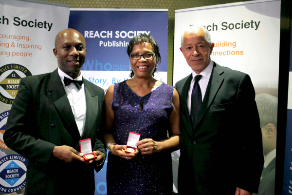 RAFA's Rudi Page on left with Patron Lord Herman Ouseley on the right. Photo courtesy http://reachsociety.com
